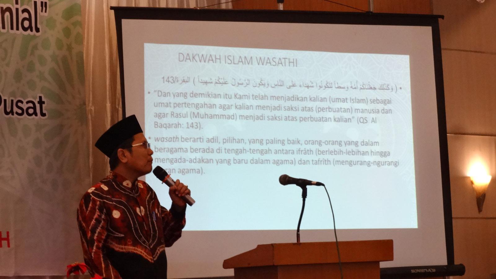 KH Cholil Nafis Lc PhD dalam Halaqah Dakwah MUI Balikpapan, Selasa (22/10). Foto: LINES