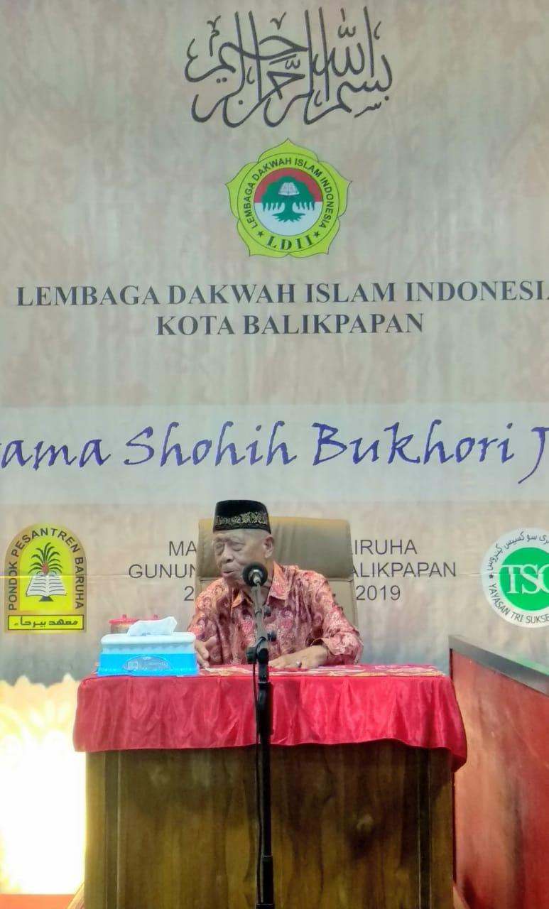 Ketua MUI Balikpapan KH Muhmmad Kasim Pallanju saat memberikan sambutan. Foto: LINES