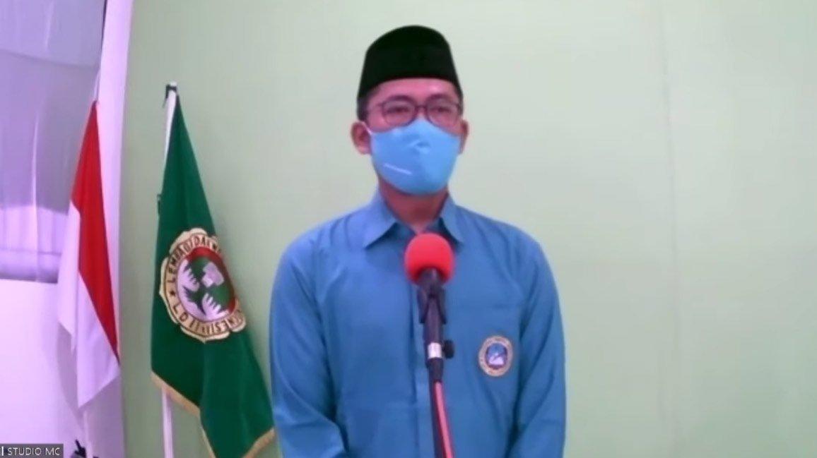 Dewan Penasehat LDII Balikpapan H. Mugi Gustari saat memberikan sambutan pada GPAS 2021. Foto: Tangkapan layar